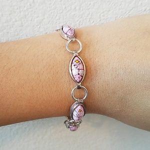 .925 Sterling Silver Milli Fiore Bracelet